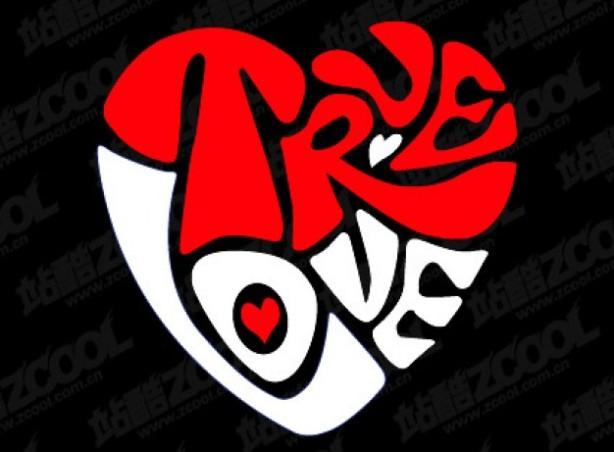 el-texto-verdadero-amor-de-material-en-forma-de-corazon-de-vectores_34-10494