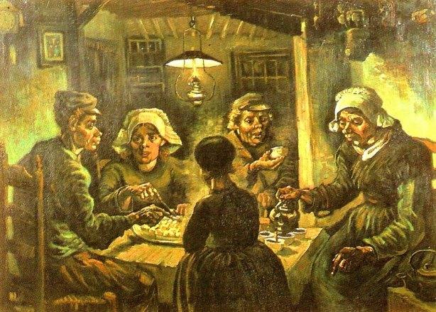 Los comedores de patatas, 1885. Óleo sobre lienzo, 82 x 114 cm. Fundación Vincent van Gogh-Museo Van Gogh, Amsterdam